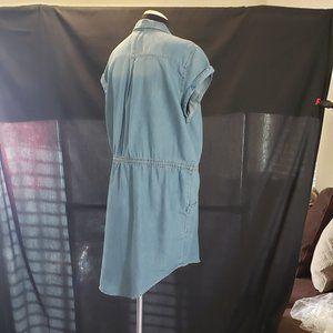 Sonoma - Light Blue Denim Button Cap Sleeve Dress